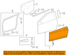 TOYOTA OEM 12-15 Yaris-Door Skin Outer Panel Right 6711152250