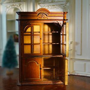 European 1/12 Wooden Cupboard Bookcase Cabinet Fine Miniature Furniture CG006A