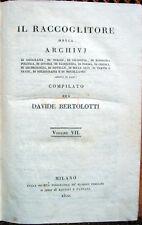 1820 – BERTOLOTTI, IL RACCOGLITORE – FOSCOLO MANZONI LAGO D'ORTA VALLE ANZASCA