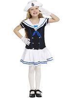 Child Kids Girls Traditional New Retro Sailor Navy 4-12 Yrs Fancy Dress Costume