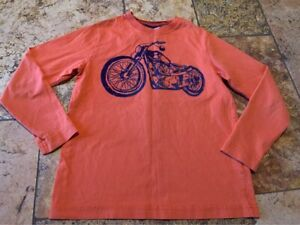 Size 8 130cm Hanna Andersson Motorcycle Long Sleeve T Shirt