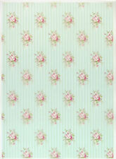 Printed Translucent / Vellum Scrapbook  Paper A/4 Country Shabby Roses