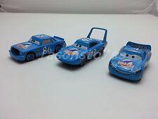 Mattel Disney Pixar Cars Dinoco McQueen & Chick Hicks & King Diecast Toy Car