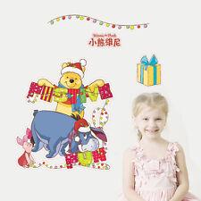 DIY Winnie The Pooh Christmas Wall Stickers Decal Kids Room Decor Vinyl Mural