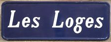 Large old French building sign plaque notice LOGES - chalets lodges cabins 1973