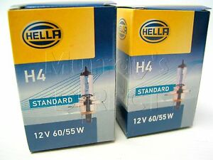 Pair of Hella OEM H4 Headlight Bulbs VW T5 Transporter [Single Halogen Headlamp]