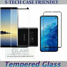 Tempered Glass Screen Protector Case Friendly Samsung Galaxy NOTE 8 9 S8/S9 S10