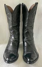 LUCCHESE Mens BLACK CHERRY Western Cowboy Boots Size 9.5E
