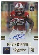 2015 Panini Prestige Extra Points RC Gold AUTO /15 Melvin Gordon Chargers