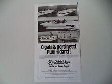 advertising Pubblicità 1981 CIGALA E BERTINETTI
