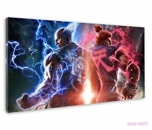 Tekken 7 Akuma Heihachi Gouki Street Fighter Canvas Wall Art Picture Print