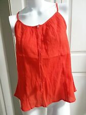 NEW ANN TAYLOR LOFT ELEGANT BRIGHT RED TANK SHIRT PETITE SIZE SP