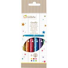 Avenue Mandarine 6 Colouring Glitter Felt Tip Pens - Art for Kids