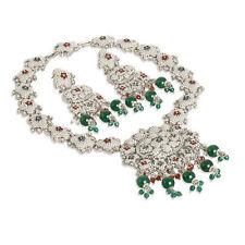 Pearl Crystal Rhodium Plated Costume Jewellery Sets