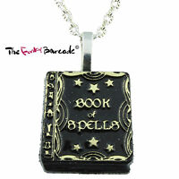 TFB - SPELL BOOK NECKLACE Halloween Costume Witch Wizard Spooky Novelty Quirky