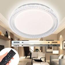 LED Kristall 90W Deckenleuchte mit Fernbedienung Wohnzimmer Flurleuchte Dimmbar