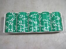100 Green $50 High Quality Poker Chips NIB NOS New
