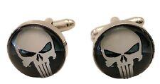 Marvel's The PUNISHER Skull Logo Glass Domed Cufflinks