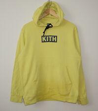 KITH Big Boxlogo Yellow Hoodie sweatshirt size M