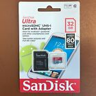 SanDisk 32GB Ultra Memory Card Micro SD SDHC UHS-1 CLASS 10 80MB/s + SD Adapter