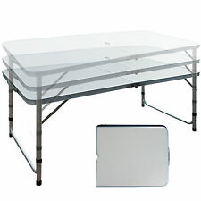 Aluminum Roll Up Folding Portable Camping Table Picnic Dining Set Patio Outdoor