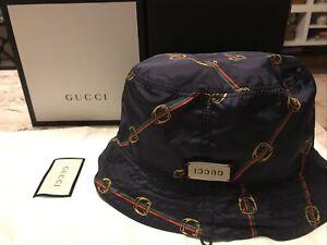 Authentic Gucci Bucket Hat Light Connection Reversible Size M