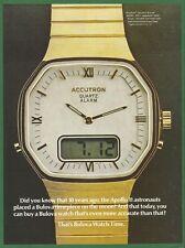 BULOVA ACCUTRON ALARM watch - 1979 Vintage Print Ad