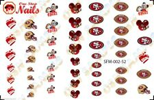 52pcs San Francisco 49ers Mickey Nail Art Decals Stickers Transfers NFLSFM002-52