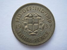 1937 silver Proof Threepence #1