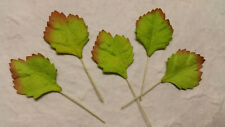 50 Mulberry Paper Leaves 30mm MPL6D::  Paper Craft Card Scrapbook embellishments