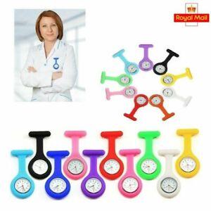 Silicone Nurse Watch Brooch Fob Pocket Tunic Quartz Movement Watch