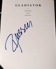 """RUSSELL CROWE SIGNED AUTOGRAPH RARE """"GLADIATOR"""" FULL MOVIE SCRIPT WITH COA"""