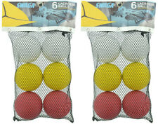 Lacrosse Balls, Swaga, Bag of 6 2 Bags Red, Yellow & White