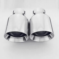 "2pcs 2.5"" In 4"" Out 7"" Long Exhaust Tips for BMW MUSTANG CORVETTE INFINITI"