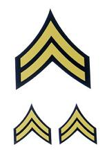US Army Military Corporal  Rank Stripes Colored CPL Decal Sticker Set of 3