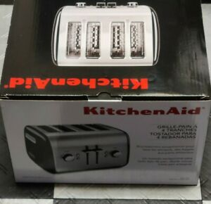KitchenAid 4-Slice Toaster with Manual High-Lift Lever, Onyx Black KMT4115OB New