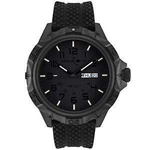 Armourlite Professional Series AL1414 Blackout Steel Watch - Rubber Band