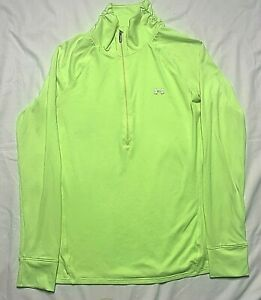 Under Armour Womens All Season Gear Semi-Fitted 1/4 Zip Pullover Yellow Small