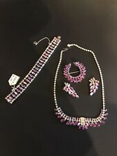 b david vintage jewelry Necklace Set Brooch Earrings And Bracelet