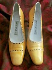 Vintage Versani Yellow Shoes Size 6B pin up pumps Heels Made in Italy Guc!