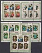 1981 Royal Wedding Charles & Diana MNH Stamp Sheetlets Penrhyn