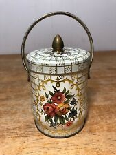 Vintage Tin Made In England Flowers Floral