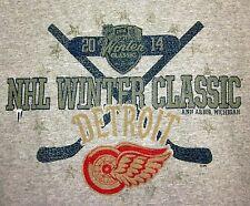 DETROIT RED WINGS lrg hockey T shirt NHL longsleeves Winter Classic 2014