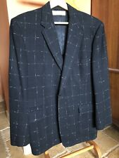 1950's Men's Windowpane Railroad Jacket Elvis Rockabilly Pink & Black