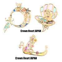Disney Store Japan Princess Stained Glass Push Pin Set of 3 Ariel Jasmin Rapunz
