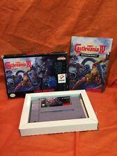 Super Castlevania IV 4 (Super Nintendo, 1991) SNES 100% Complete CIB MINT