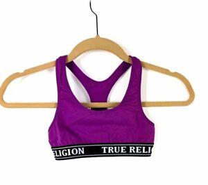 NWT True Religion Sports Bra Size XS Purple New $32