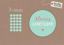 """24 x Geschenkaufkleber """"Kleines Dankeschön"""" 40mm türkis Etiketten Aufkleber"""