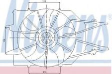 RADIATOR COOLING FAN FOR FORD FOCUS 1.8 16V NEW NISSENS 85213 REDUCED TO CLEAR