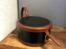 Leder Koffer / Tasche ca. Ø 13,5 cm. Top Zustand